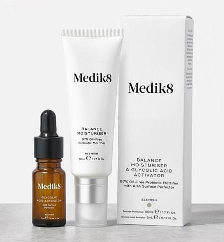 medik8 balance moisturiser robiotyczny krem matujący z kwasami AHA