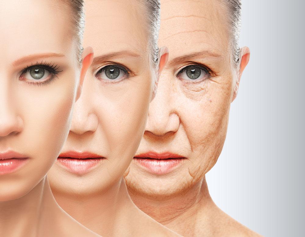 starzenie się twarzy
